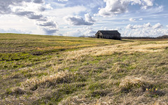 Springtime Just Around the Corner (SteveFrazierPhotography.com) Tags: barn wood wooden old dilapitated decaying field farm farmland farming agriculture illinois il chili clouds sky day daytime daylight afternoon springtime spring usa america midwest rural boards outdoor building chilitownship hancockcounty