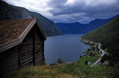 Norwegen 1998 (154) Aurlandfjord