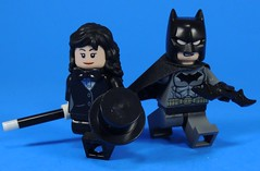 Zatanna and Bruce (MrKjito) Tags: lego minifig super hero comics comic detective batman zatanna magic dc custom batarang