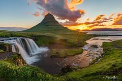 First Rays (Shi Yu) Tags: shiyuphotographyyushiphotographysunstonephotography iceland places waterfall sunrise sunburst rays landscapes earlymorning