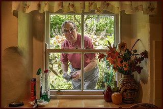 P1190023-1 - Rude Man at the Kitchen Window