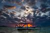 Sunrise at Sanur, Bali (V I J U) Tags: 2017 asia bali fujifilmxt20 indonesia sept travel vijujose xt20 sanur karang beach pantai fishing boat sky clouds landscape sunrise dawn longexposure
