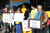 Protest outside Glenroy Commbank to #stopAdani (John Englart (Takver)) Tags: climate climatechange victoria australia glenroy commbank adani stopadani protest coal