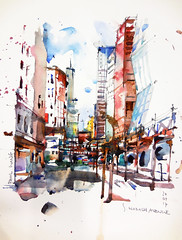 Chicago - S Wabash Avenue (PaulArtSG) Tags: symposium chicago urbansketchers