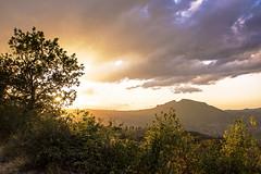 . (raffaella.rinaldi) Tags: landscape home clouds tree green rays sun gold valmarecchia italy