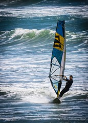 Sail Surfer (Charlie Day DaytimeStudios) Tags: bigbasinca california highway1 ocean oceanscape pacificcoast sailsurfing surfer water waves windsurfing