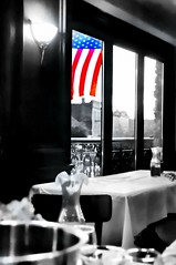 USA (floralgal) Tags: usa independenceday fourthofjuly mamaroneck mamaroneckavenuerestaurant eatery westchestercountynewyorkeatery americanflag godblessamerica selectivecolor