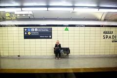 Makeup Mondays (cookedphotos) Tags: toronto canon 5dmarkiii streetphotography ttc subway spadina station transit urban woman girl makeup beauty morning routine rush work platform