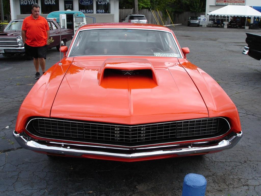 Woodward__ Carleyware Tags Ford Torino  Cobrajet Hoodscoop Orange