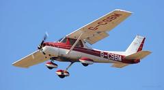 Reims Cessna F150M G-CSBM Lee on Solent Airfield 2017 (SupaSmokey) Tags: reims cessna f150m gcsbm lee solent airfield 2017