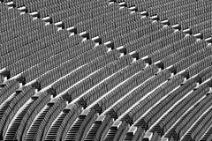 Empty Seats (laga2001) Tags: empty seats seating stade stadium football soccer black white monochrome bw line curve monotonous minimalism structure pattern light shadow rows