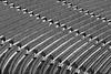 Empty Seats (laga2001) Tags: empty seats seating stade stadium football soccer black white monochrome bw line curve monotonous minimalism structure pattern light shadow rows