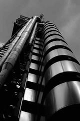 Futuristic (HonleyA) Tags: london lloyds bank architecture fuji fujifilmxt10 fujinon fujinon27mm 27mm pancake prime building modern city cityscape mono blackandwhite