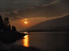 smokey moonrise (Ivan Antoniw) Tags: kootenay lake moonrise