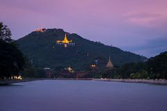 Long shot to Mandalay Hill (ajecaldwell11) Tags: lights longexposure mandalay sunset mandalayhill purple buildings myanmar pagoda xe2 fujifilm clouds caldwell ankh