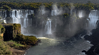 A small section of Foz do Iguacu.  Technically this is Cataratas del Iguazú because this is the Argentinian side of the Falls.  Misiones, Agrentina