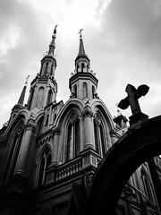 Take me to church (doubleshotblog) Tags: creepy scary doubleshotblog doubleshot hozier iphonephotography iphoneography wiara kościół polska blackandwhite gothic dog worship christian catholic polish poland church