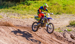 Yamaha Catching Some Air (John Kocijanski) Tags: motorcycle motocross dirtbike vehicle shadow people rider race sport canon70300mmllens canon7d