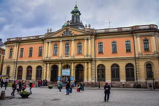 Old Stock Exchange Building (Börshuset) and Nobel Museum in Stortorget Gamla Stan - Stockholm Sweden