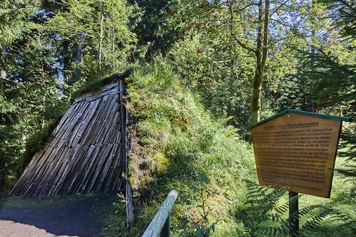 Holzkohlemeiler im Rennsteiggarten Oberhof