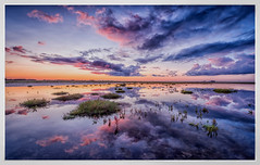 cloud reflection (juhwie.foto - PROJECT: LEIDENSCHAFT-LICH-T) Tags: cloud reflections sky sunrise dawn watt wattenmeer spo sanktpeterording eiderstedt nordsee nordseesehnsucht northsea balticsea landscape landscapephotography pentax pentaxart ricohimaging k1 1530 clors colours