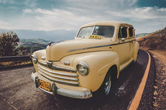 The Untouchables (u c c r o w) Tags: oldtimer matanzas cuba highway road taxi yellow car automobile uccrow vintage classical varadero havana cab ford 1946