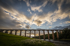 A big bridge with an even bigger sky - Leaderfoot Viaduct. (iancook95) Tags:
