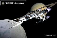 """SHIPtember 2017 : """"ENCELADE"""" Class Gunship (Loysnuva) Tags: lego moc system ship spaceship pewpew gunship shiptember 2017 original encelade saturn white loysnuva bionifigs enceladus"""
