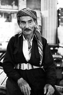 Local man in Kurdish dress at Qayseri market, Erbil / Iraqi Kurdistan
