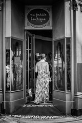 Shopping! (guillaumegesret) Tags: dinard woman girl street streetview streetphotogrpahie streetphotographer streetart monochrome mode fashion weekend boutique market view light shoes window mother moment noiretblanc noir nb nice nature clean club party white walk world wife people inside