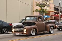 Ventura Nationals Cruise Night 2017 (USautos98) Tags: 1955 ford pickuptruck hotrod streetrod custom