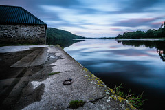 Reflecting on the old boathouse (NikNak Allen) Tags: plymouth devon lowell dartmoor tavy rivertavy river water stone brick house moss reflection reflections trees silhouette shadows sky cloud clouds morning low sunrise seascape landscape