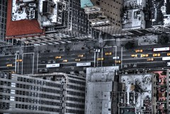 From Above (jporter17191) Tags: newyork new york above street taxi taxis cab cabs cars buses bus car building buildings
