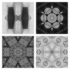 Art of perception. (Explored 17/09/17) (tetleyboy) Tags: digitalart mirrorlab pixlr symmetrical 500px facebook mono collage quad frame blackandwhite