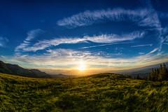 Gurnigelberg Sunset (Bugtris) Tags: gurnigel 815f4l landschaft fisheye hdrdri sky canon 5dmkiii wolken sunset bern schweiz