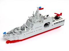 """Offshore Patrol Vessel """"Piloto Pardo"""" 1:200 scale LEGO model Patrullero de Zona Marítima """"Piloto Pardo"""" Modelo LEGO escala 1:200 (LuisPG2015) Tags:"""
