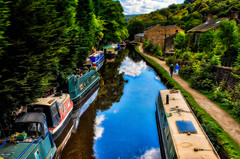 Rochdale Canal (Kev Walker ¦ Trying to Catch Up!) Tags: architecture canon1855mm canon700d digitalart hdr hebdenbridge lancashire northwest rochdalecanal