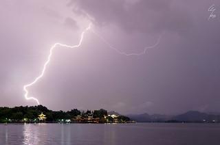 Foudre sur le Lac de l'Ouest - Lightning on the Westlake - 05/07/2017 - Hangzhou (China)