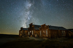 Why Did the Milky Way Cross the Road? (Jeffrey Sullivan) Tags: bodie state historic park workshop night photography main street morgue ioof hall dechambeau hotel stars easternsierra california usa canon eos 6d photo copyright 2017 jeff sullivan mycastateparks