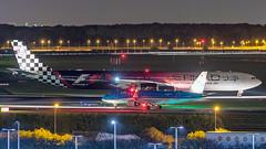Etihad Airways A340 (Ramon Kok) Tags: aviation avgeek avporn airport aircraft airplane airline air airlines amsterdam airfield ams airways airbus a340 a340600 airbusa340 a6ehj etihad etihadairways ey etd f1 formula1 nightshot schiphol eham holland thenetherlands netherlands aalsmeerbaan