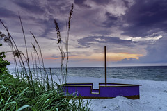 Beached (Charles Patrick Ewing) Tags: boat boats beach beaches landscape landscapes nature natural sky skies clouds sunset ocean water gulf sundown tree trees sand colorful colourful beautiful beauty all evrything coast coastal
