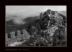 Castillo-de-Xativa-BN-copia (invesado) Tags: black white d7100tokina 1116castlemontaincloudy