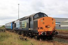 37604 - Workington - 2017-09-15 (BillyGoat75) Tags: directrail drs class37 37604 britishsteel skinningrove workingtonstation sidings cumbriancoastrailwayline