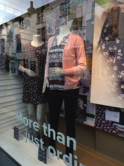 FATFACE - more than just ordinary . . . . (Snapshooter46) Tags: shopwindow fatface clothes fashions mannequin kirkbylonsdale cumbria mainstreet dress cardigan reflections