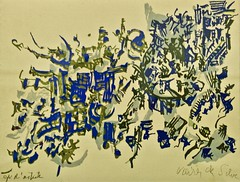 Le Jardin (19599 - Helena Vieira da Silva (1908-1992) (pedrosimoes7) Tags: helenavieiradasilva centrodeartemanueldebrito camb paláciodosanjos algés portugal kwyartistgroupparis color coulor cor couleurs artgalleryandmuseums
