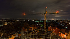 Up In The Greys (Tim van Zundert) Tags: durrington worthing westsussex housing construction scaffolding urbex buildingsite crane night evening longexposure landscape sony a7r voigtlander 21mm ultron