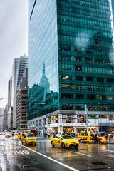 The Empire State Building in the Salesforce Tower (grand Yann) Tags: america amerique architecture cab hdr manhattan ny nyc newyork newyorkcity paysage taxi usa vehicule voiture bleu blue car city jaune landscape pluie rain summer urbain urban yellow été étatsunis