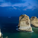 Pigeon Rocks in the evening, Beirut