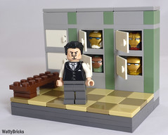Locker Room of Armor (WattyBricks) Tags: lego marvel superheroes iron man tony stark hall armor locker room