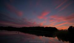 Sunset / Zonsondergang (Stef32Photo) Tags: sunset zonsondergang geestmerambacht clouds wolken sky lucht bluesky blauwelucht nikon d5300 sigma18200mm sigma water reflection reflectie trees bomen longexposure langesluitertijd